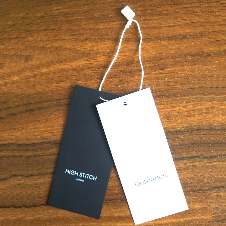China Best Design High Quality Garment Paper Card New Custom Cardstock Supplier Clothing Hot Sale Hang Tag