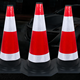 50cm 70cm Black base rubber traffic cone / Reflective Road traffic cone