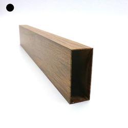 Factory direct selling 20*50 mm rectangular tubing wood grain oem aluminum tube profile