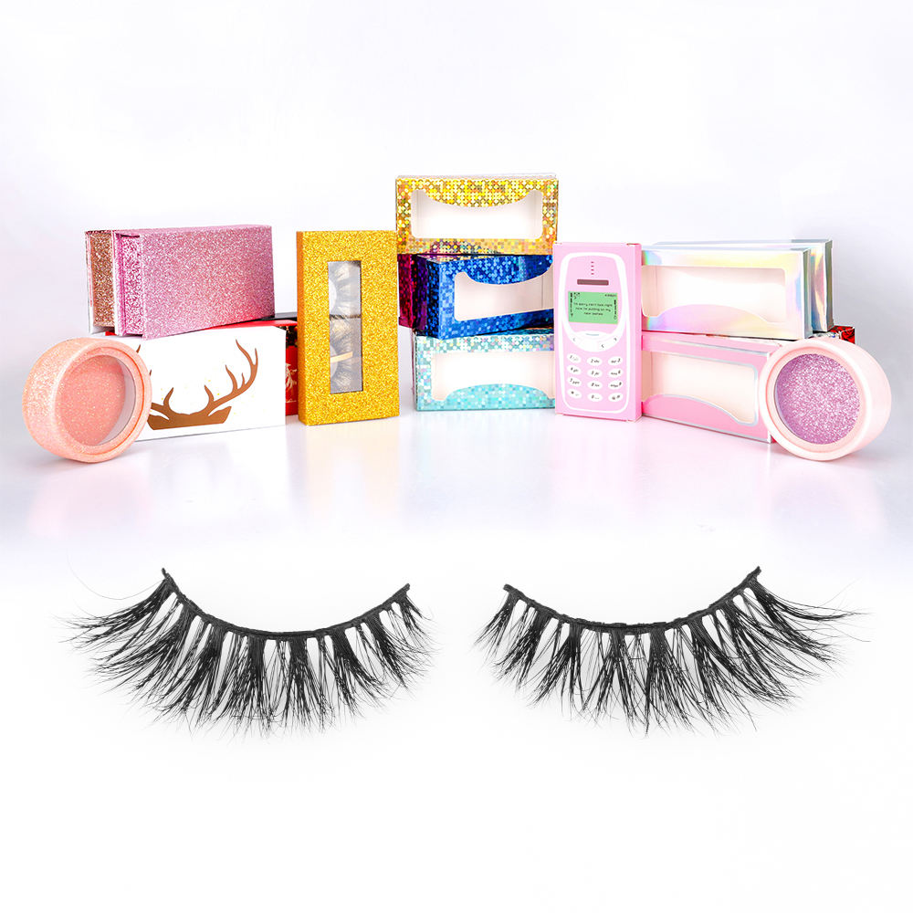 Private Label Cosmetic Packing Paper Pink Eyelash Packaging Box For Lashes