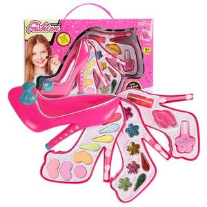 Children's Cosmetics Make-up Box Toy Set Girl Jewelry Play House High-heeled Shoes Makeup Box Princess Makeup Kit