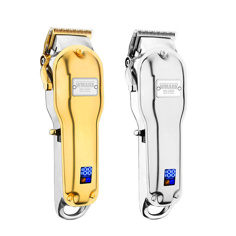 WMARK New Barber All-Metal Design High Quality LED Display Electric Hair Clipper
