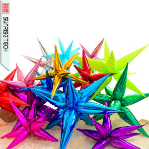 SUNRISE Colorful Star Foil Balloon Silver Explosion Balloon