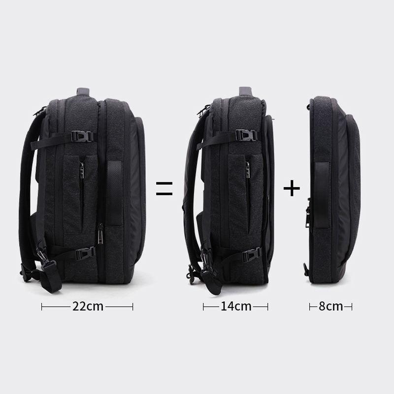2020 ARCTIC HUNTER 2 in 1 Detachable Laptop Backpack 17 inch Laptop Custom Hiking Backpack Male Mochila waterproof backpack bag