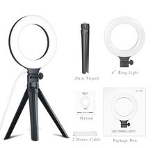 Photography LED Ring Light 6 Inch Dimmable LED Circle Ring Light with Tripod for Makeup