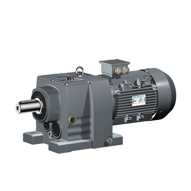 R series linear helical gear reducer motor speed reduction gearbox for extruder machine