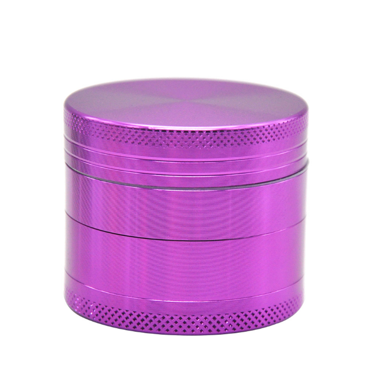 customer logo 50mm four-layer aluminum alloy herb weed grinders for grinding weeds