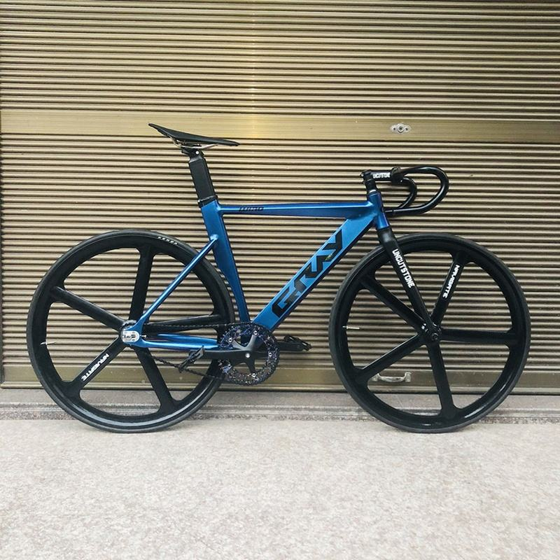 Fixie Bike 52cm 56cm Frame Single Speed Bike Welding Frame With Carbon Fiber Fork Color Aluminum Alloy Track Bicycle 700C