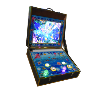 wooden material double players cabinets casino machine fishing hunter games portable fish suitcase