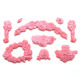 European embossed rose leaf cake decoration silicone mold fondant cake chocolate jelly candy silicone mold biscuit mold