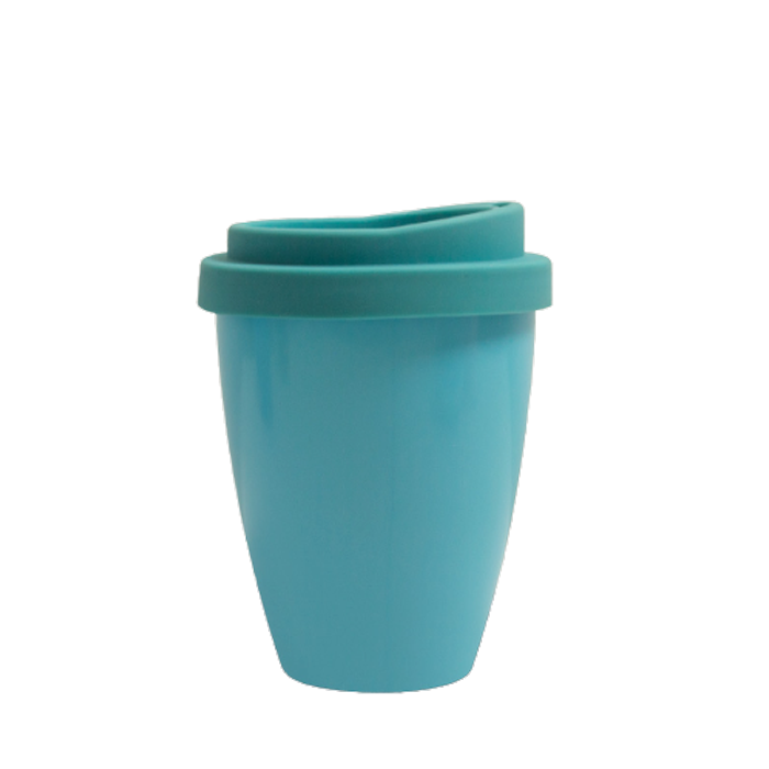 biodegradable PLA 300ml pantone color reusable coffee cup with lid customized color and logo