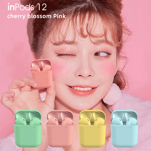 New Design Inpods12 Wireless Earbuds Bass Sound V5.0 Earphone Colorful Soft Touch TWS Inpods 12 BT Headset