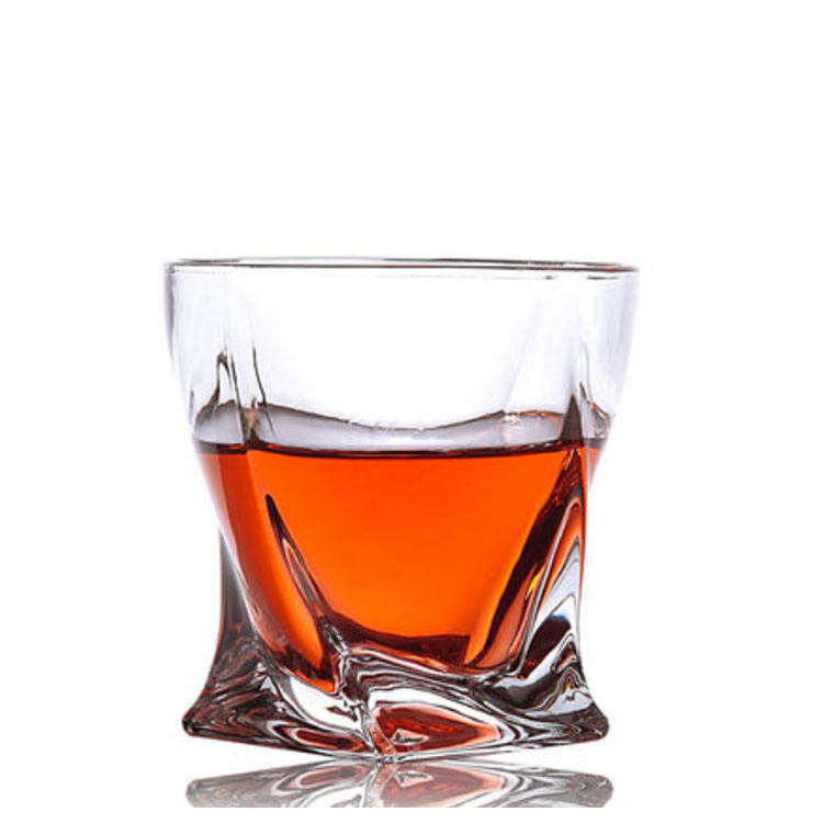 Wholesale Clear Crystal 200ml-300ml Custom Whiskey Glasses Drinking Glass Cup