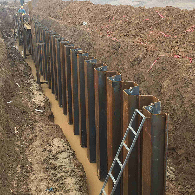Prime Hot Rolled Type 4 Steel Sheet Pile With workable price steel sheet pile lassen