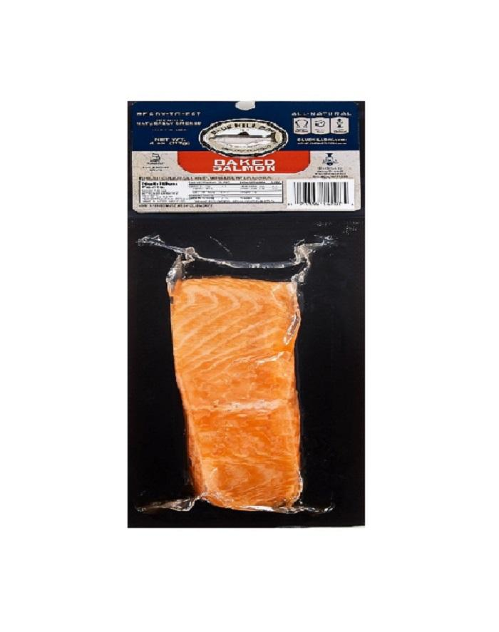 retail 4 oz baked Hot smoked smoked salmon slice for wholesale