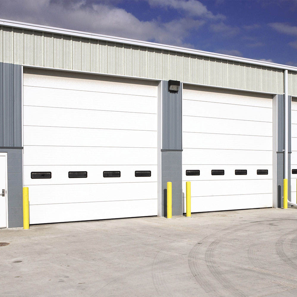 industrial overhead different lifting type thermal insulated sectional door for exterior or interior use in factory