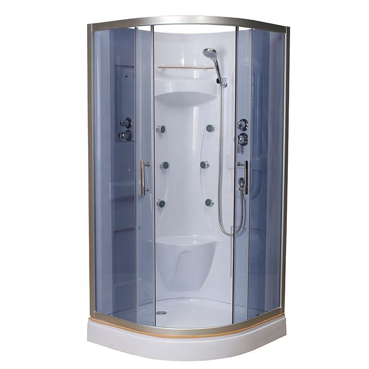 Portable RV shower room one piece ABS back wall shower cabin