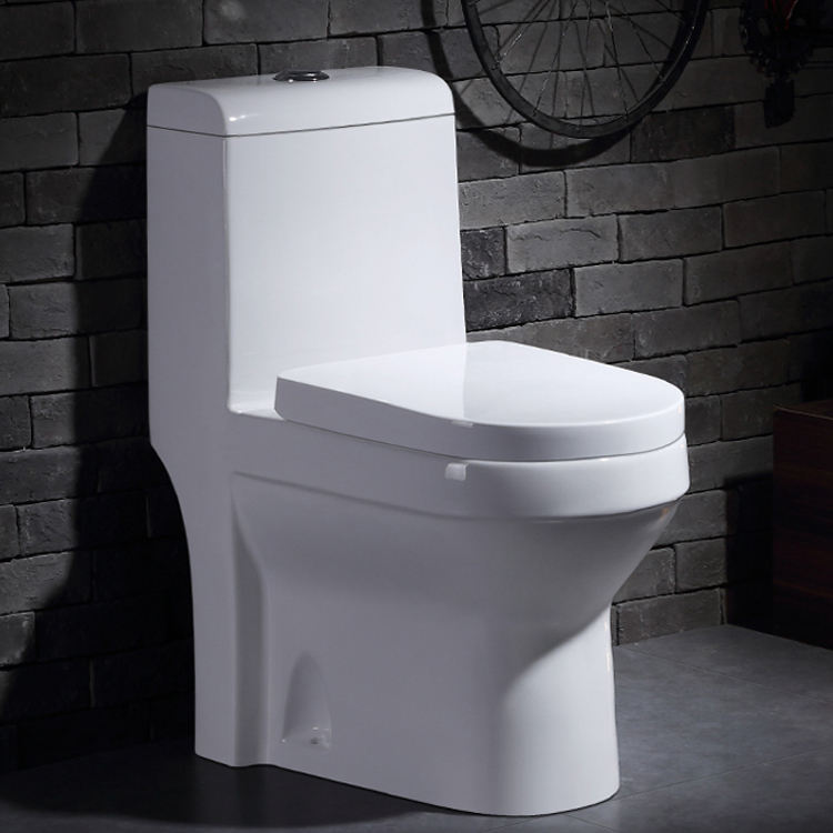 GX1015 Luxury bathroom sanitary rimless siphonic s-trap one piece chinese WC ceramic toilet bowl price for hotel