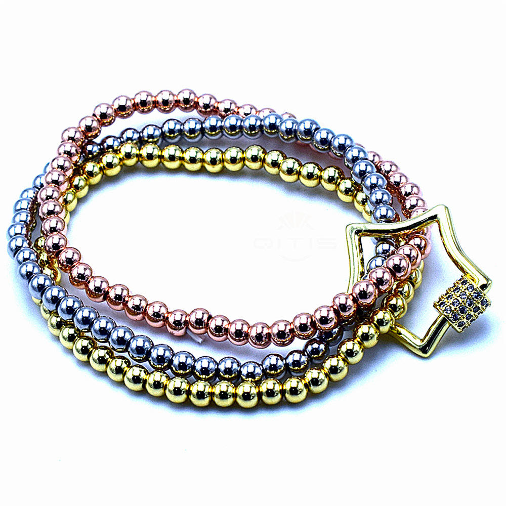 Ankle Bracelet Vendor Supply Simple Gold Plated Beaded Star Boho Bracelets For Women