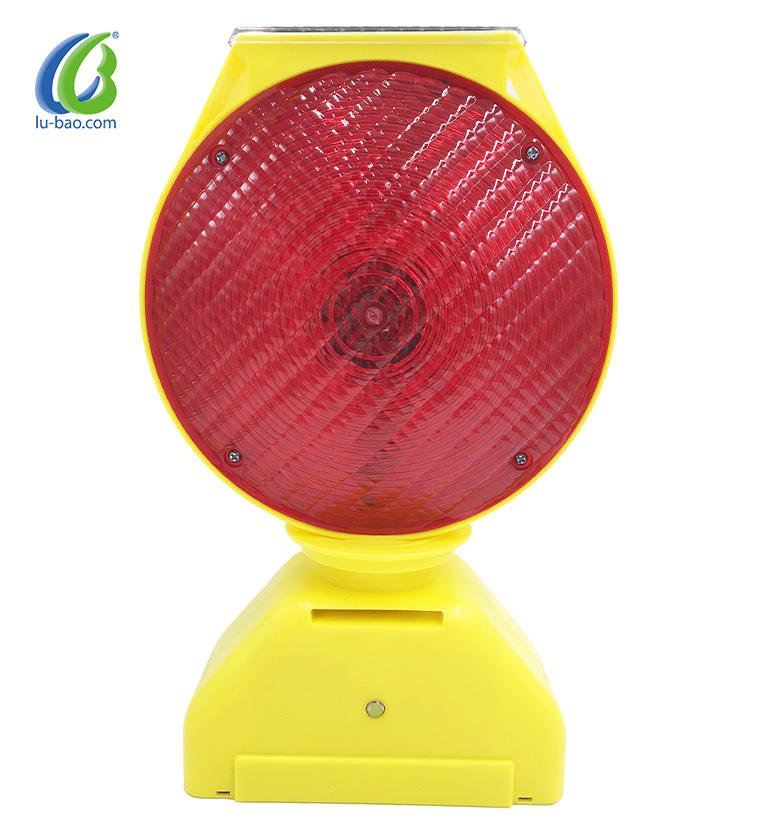 High utility factory wholesale solar outdoor pathway lights smart blinker flasher led traffic signal warning barricade light