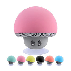 2020 Cheap Cute Portable Shower Mushrooms Sucker Waterproof Wireless Bluetooths Speaker Mobile Phone Car Mini Speaker