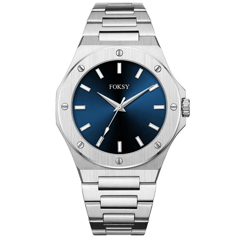 Hot New Brand Private Label Sunray Dial Stainless Steel Strap Fashion Men Quartz Wrist Watch