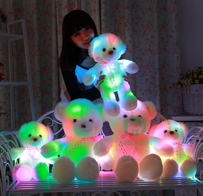 New design!!! 35cm led teddy bear for Valentine gift,animal plush toy with high quality