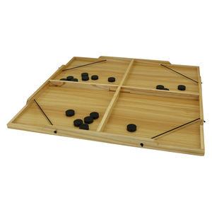 Large Size Wooden Fast Sling Puck Game Slingshot Board Games for Adult and Kids 4 Players