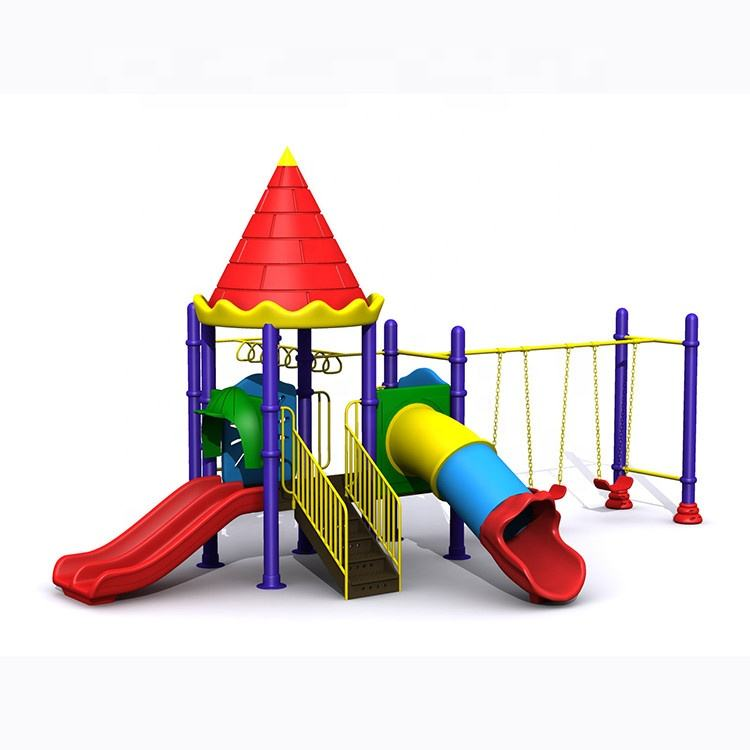 Popular selling commercial funny kindergarten furniture outdoor playground plastic slide