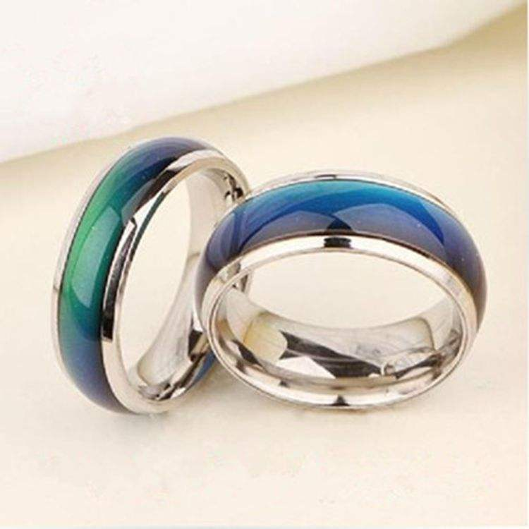 New Fine Jewelry mood ring changing color Emotion Feeling Mood Ring Changeable Band Temperature Ring