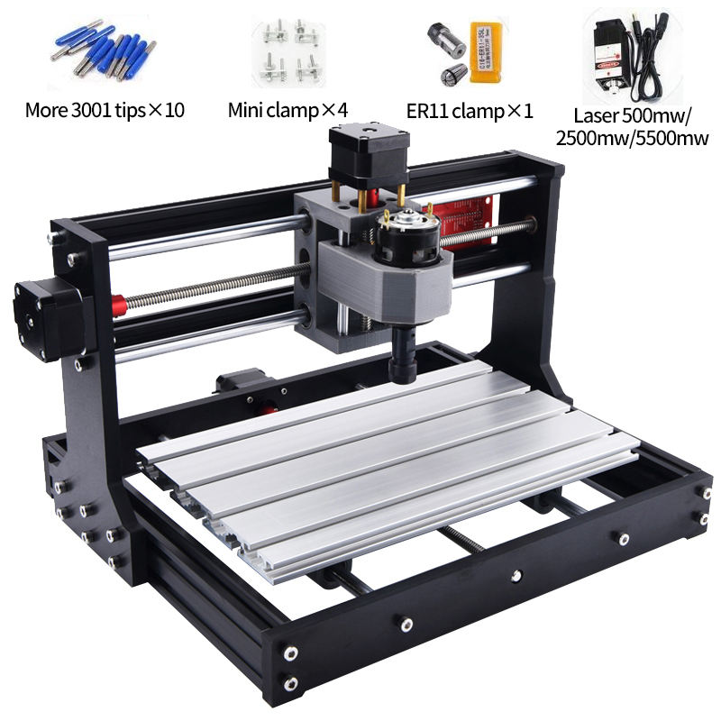 Pro CNC 3018 ER11 GRBL Control Diy Mini CNC Wood Router Laser Cutting Pcb Milling Machine