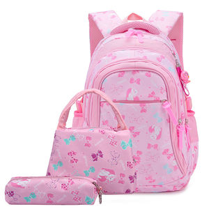 Kids School Bags Set Girls Butterfly Printing Bookbags with Lunch Bag and Pencil Case Children School Backpacks Set