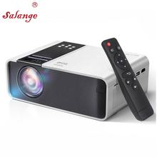 Salange W10 mini projetor HD LED Projector, 2800 Lumens 1280x720p Video Proyector USB 1080p Mini Project 3D Movie Game Beamer