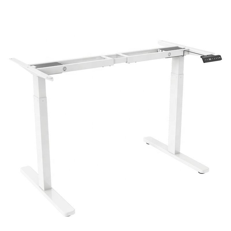 WP electric height adjustable table racks modern studio desk workstation stand up desk frame metal 2legs dual motor