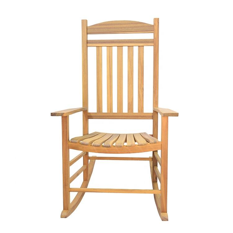Vietnam factory solid acacia wood rocking chairs, cheap living room chairs for big sale