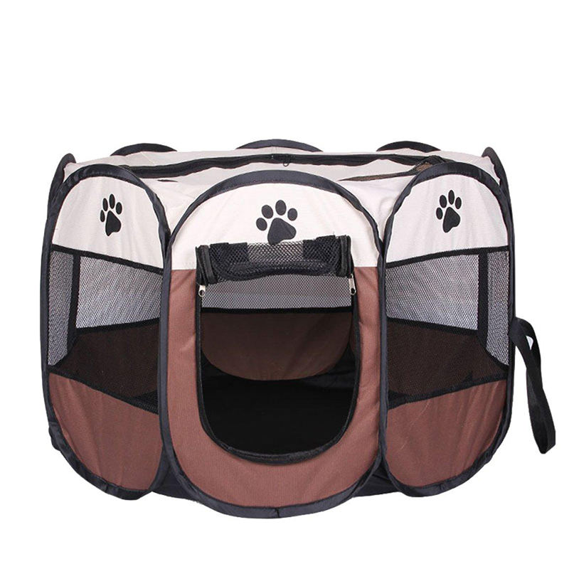 Large Indoor Outdoor Dog Pet Playpen, Portable Foldable Puppy Cat Excise Pen Kennel Tent, Soft Folding Crate Cage House