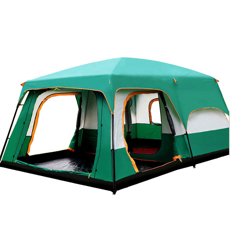 Blue Barraca With Bag Oxford Rainproof Waterproof Sunshade Portable Quick Open Large 10 person Camping Travel Family Tents//
