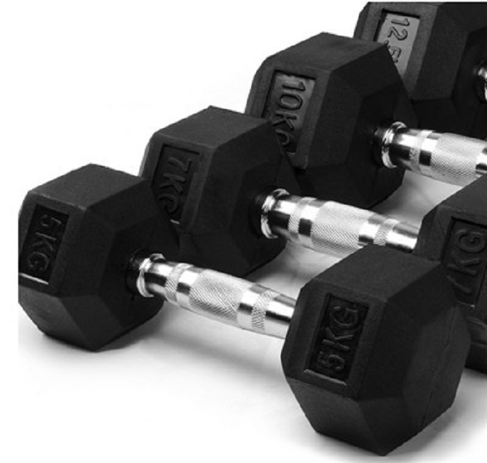 pesas gym dumbbell set cheap dumbbell set gym equipment high rubber hex dumbbell hot