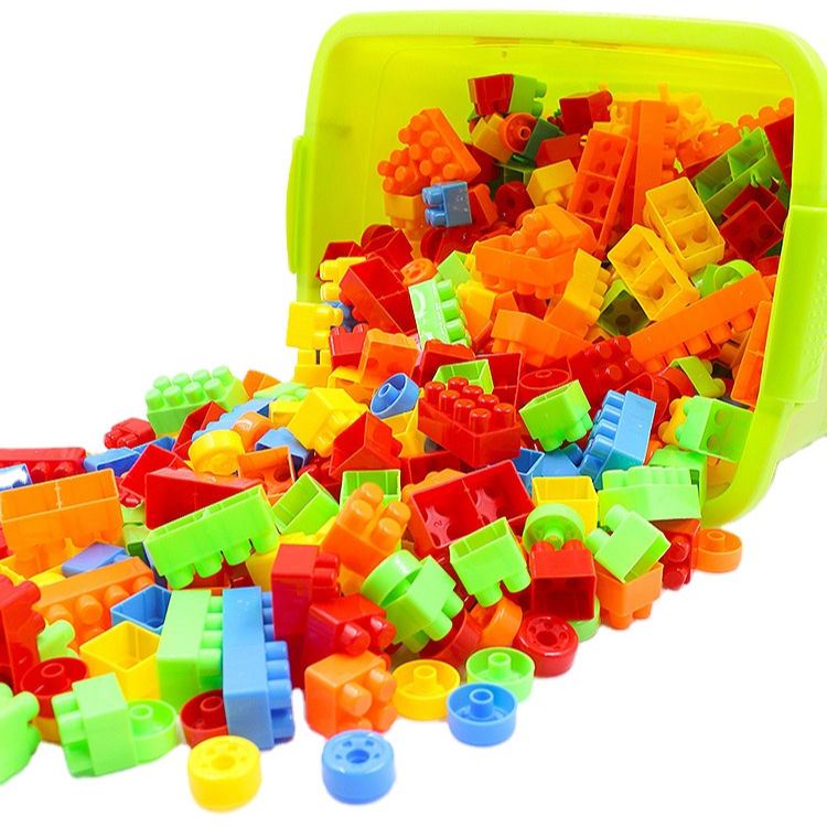 Kinder groß<span class=keywords><strong>e</strong></span> Granulat-Bausteine Baby Early Education Toys Plastic Bricks Toy Multi color Juggle für Kinder