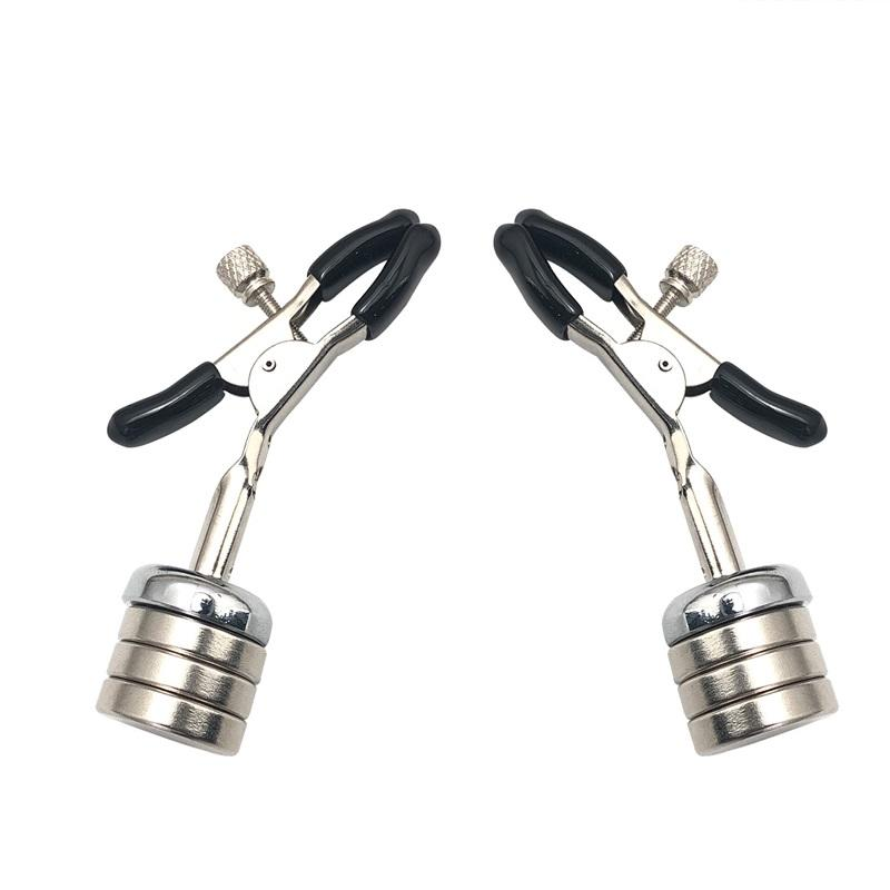 2021 New Style Nipple Clamps Male Heavy Magnetic Chips Sex Toy Training Tools Female Pendant Bondage Torture For BDSM