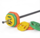 Wonder sports Gym equipment aerobic gym body pump weight set Colorful Weight Lifting Barbell Rubber Aerobic Body Pump Set
