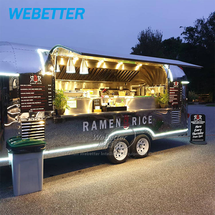 WEBETTER Customized food kiosk mobile catering trailer food truck for sale