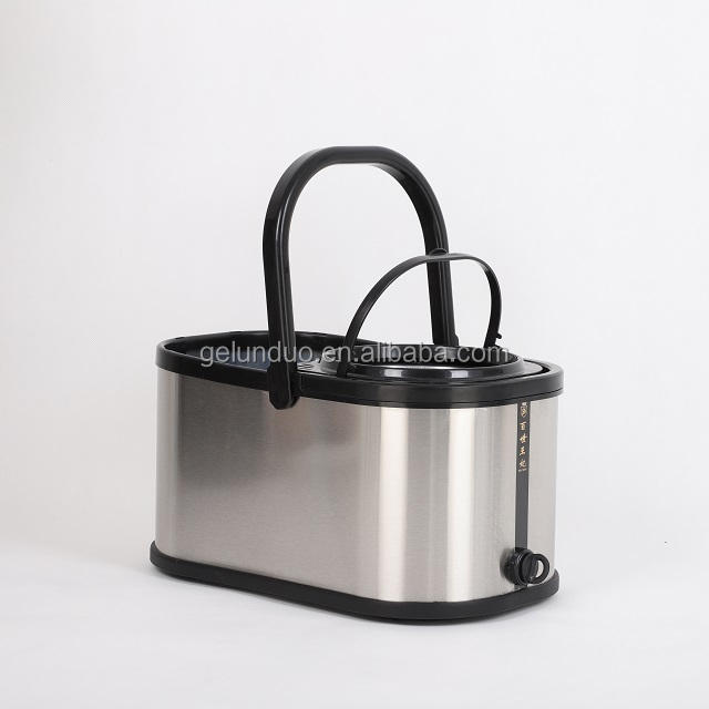 Floor Mop Magic Metal Head Stainless Fabric Packaging Color Tray Bucket Pedal Handle Feature Weight