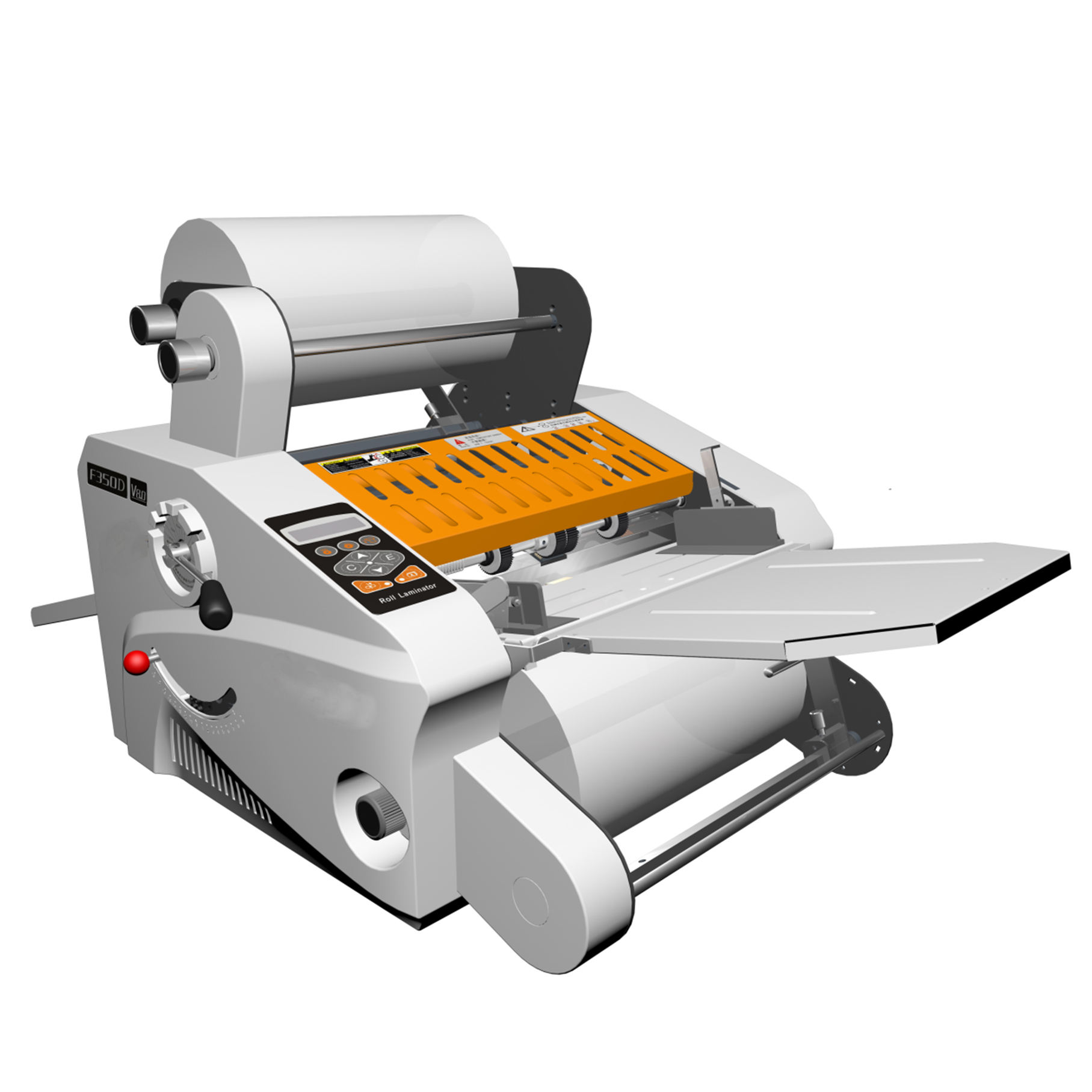A3 340mm roll laminator with rewind,foil fusing hot laminator