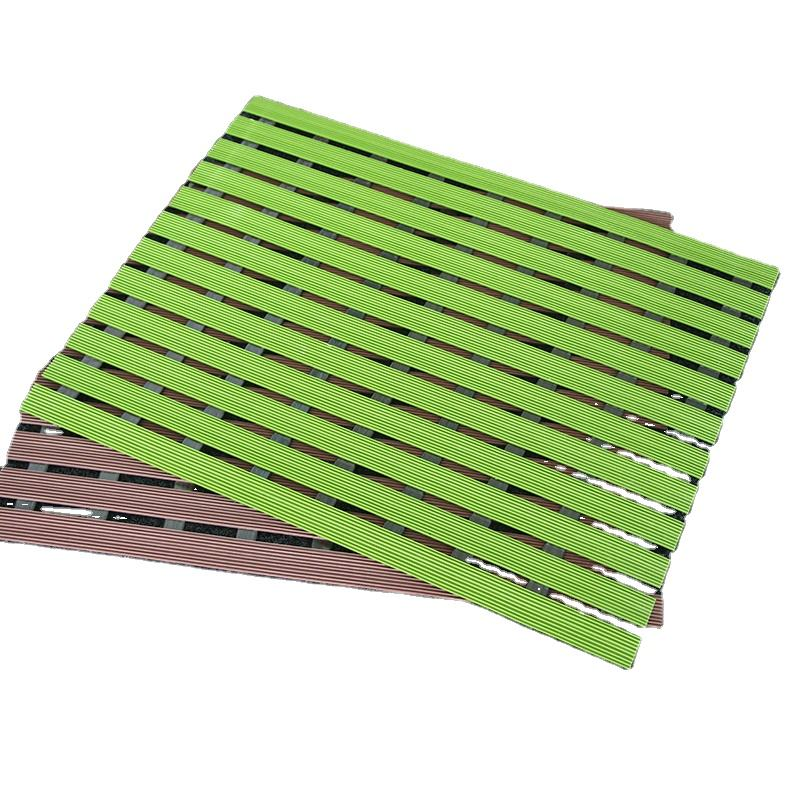 Doormats wet area Slip protect slatted wet room pvc plate mats for bathroom swimming pool