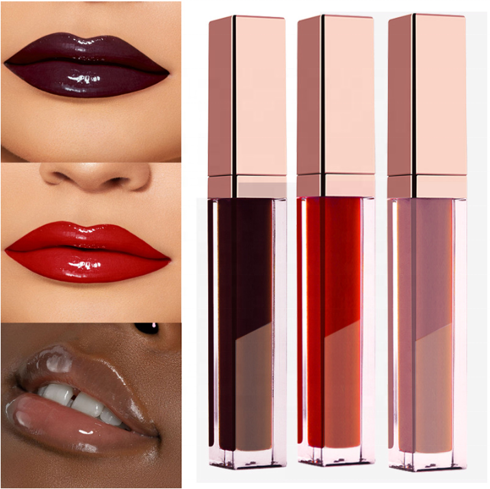 Hot Selling 120 Farben Free Shimmer Flüssiger Lip gloss Private Label Benutzer definiertes Logo Shiny Glitter Clear Lip gloss