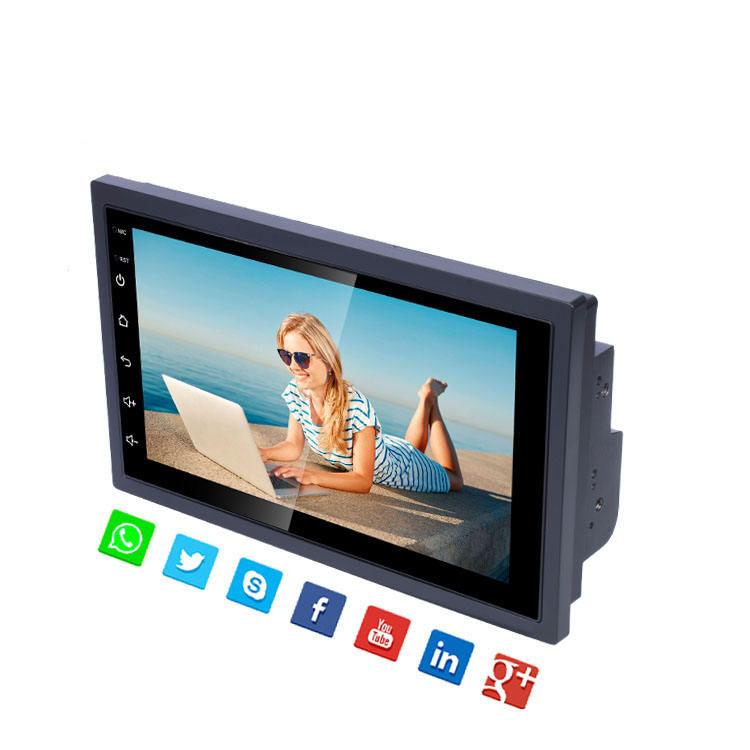 2 DIN Universal Android 8,1 de 7 pulgadas, radio de audio para coche, soporte de navegación GPS 4G WIFI BT de china