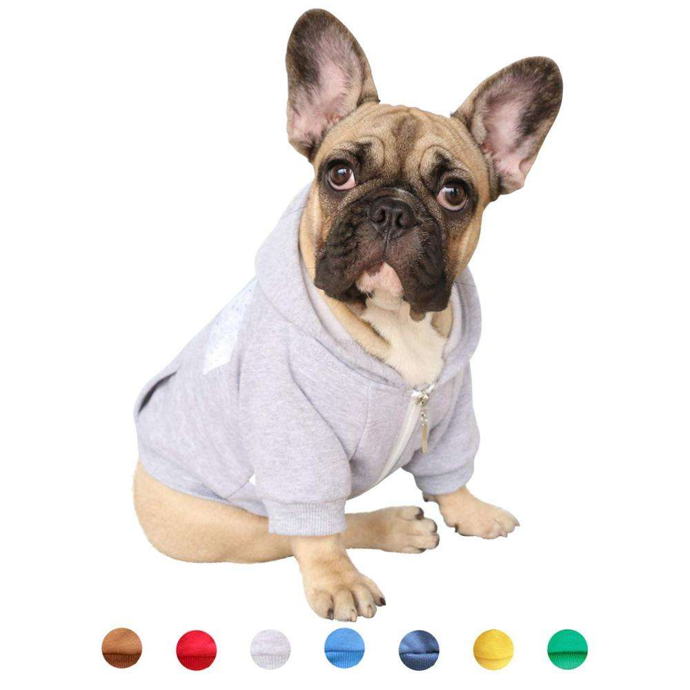 yihong Pet Clothes Dog Hoodie Hooded Full-Zip Sweatshirt