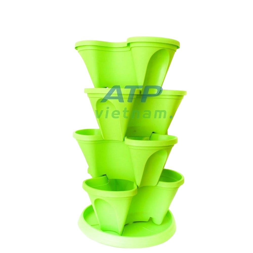 Stacking Plastic Plant Pots vertical garden, indoor home vertical garden Tower Planters for vegetables, herbs, strawberry,