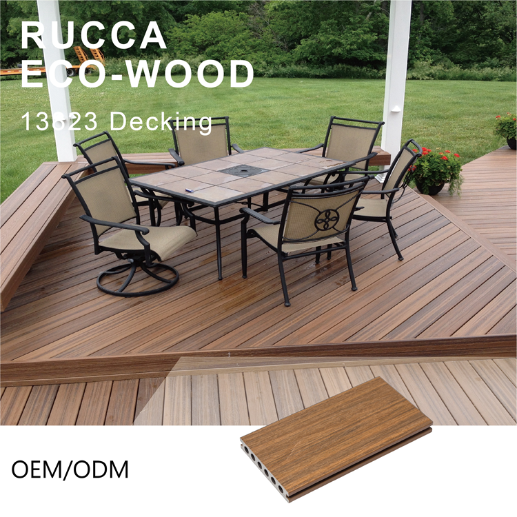 WPC Wood Plastic Composite Waterproof Outdoor Decking Embossed Floor Tiles